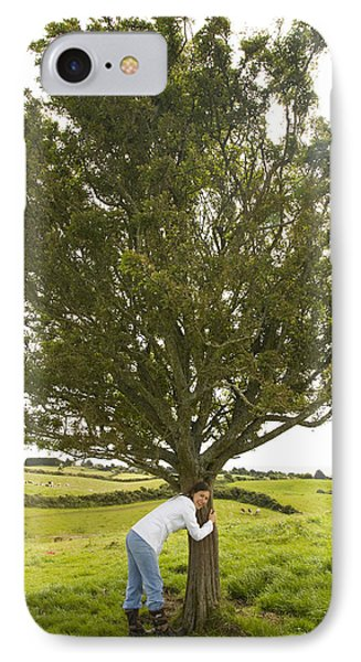 IPhone Case featuring the photograph Hugging The Fairy Tree In Ireland by Ian Middleton