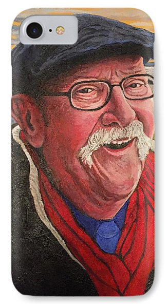 IPhone Case featuring the painting Hugh Hanson Davidson by Tom Roderick