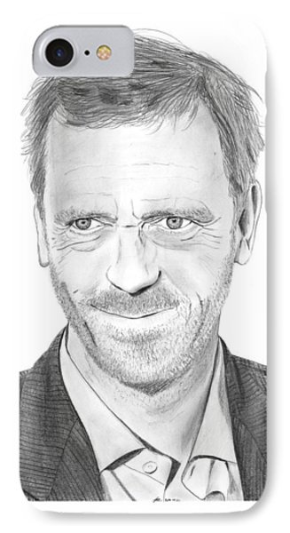 Hugh Laurie IPhone Case by Gabor Vida