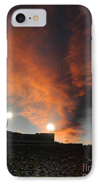 Hughes Stadium Sunset Phone Case by Sara  Mayer