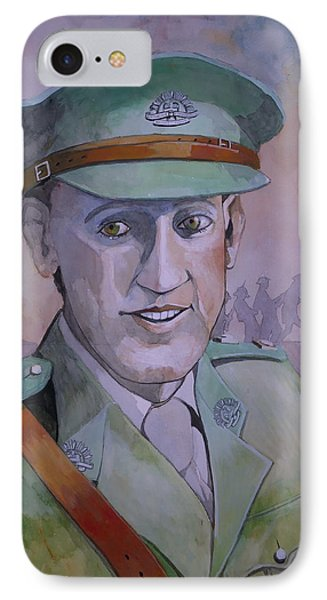 IPhone Case featuring the painting Hugo Throssel Vc by Ray Agius