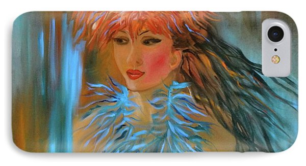 Hula In Turquoise IPhone Case by Jenny Lee