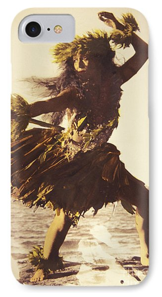 Hula In A Ti Leaf Skirt Phone Case by Himani - Printscapes