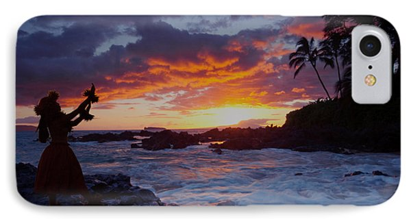 Hula Sunset IPhone Case by James Roemmling