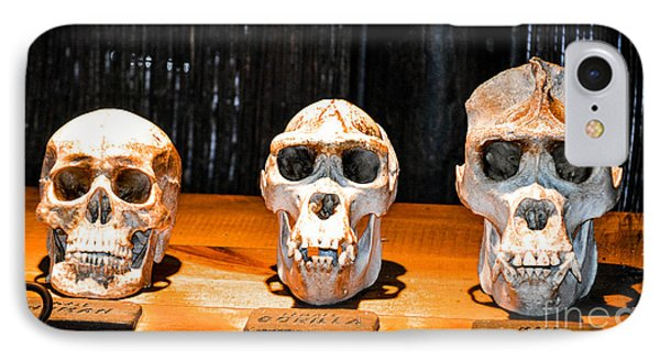 Human Female Male Gorilla Skulls IPhone Case