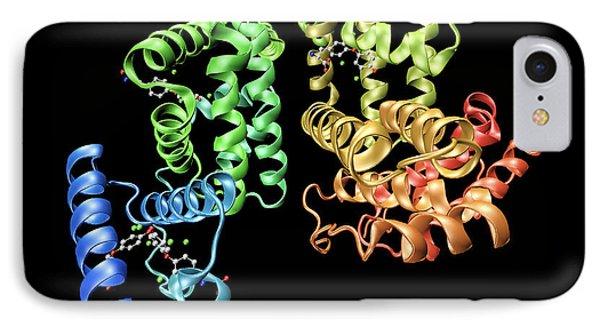 Human Serum Albumin Molecule Phone Case by Dr Tim Evans