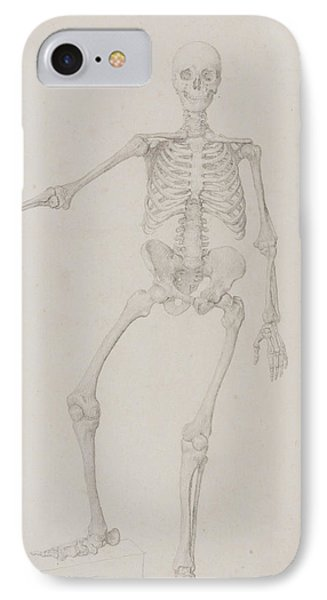Human Skeleton, Anterior View IPhone Case by George Stubbs
