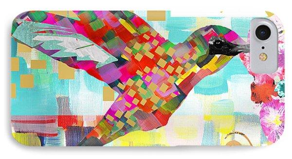 Humming Bird IPhone Case by Claudia Schoen