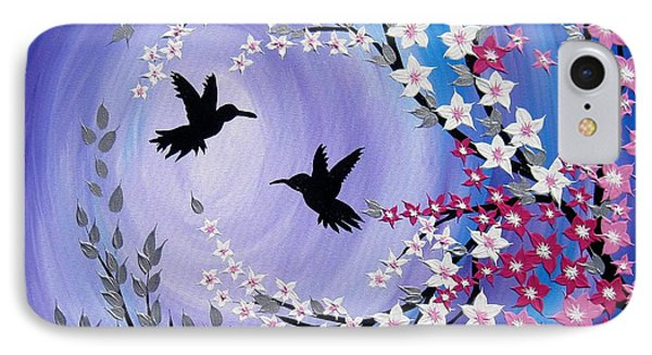 Humming Bird Fantasy IPhone Case by Cathy Jacobs
