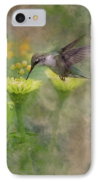 Hummingbird Art IPhone Case by Ron Grafe
