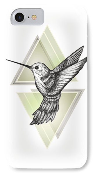 Hummingbird IPhone Case by Barlena