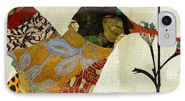 Hummingbird Brocade IIi IPhone Case by Mindy Sommers