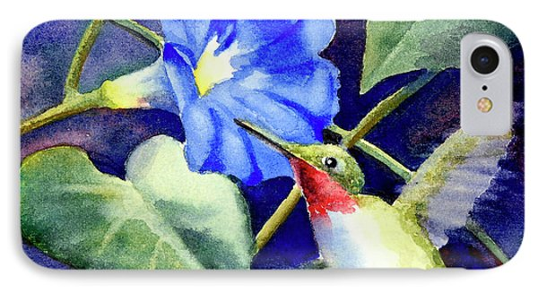 Hummingbird Delight IPhone Case by Bonnie Rinier