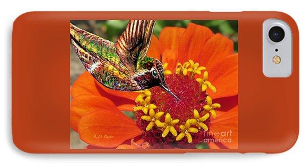 Hummingbird Delight IPhone Case by Kimberlee Baxter