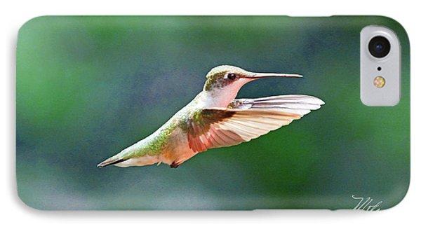 Hummingbird Flying IPhone Case by Meta Gatschenberger