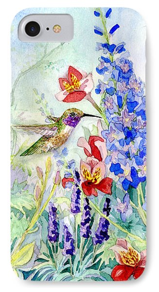 Hummingbird Garden In Spring IPhone Case by Audrey Jeanne Roberts