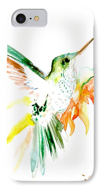 Hummingbird Green Orange Red IPhone Case