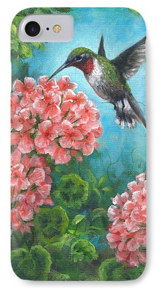 IPhone Case featuring the painting Hummingbird Heaven by Kim Lockman