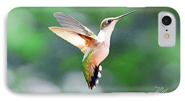 Hummingbird Hovering IPhone Case by Meta Gatschenberger