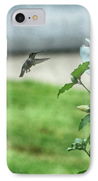 IPhone Case featuring the photograph Hummingbird In Flight by Yvonne Emerson AKA RavenSoul