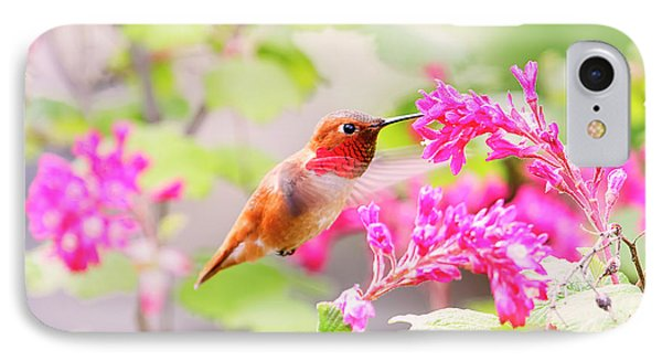 Hummingbird In Spring IPhone Case by Peggy Collins