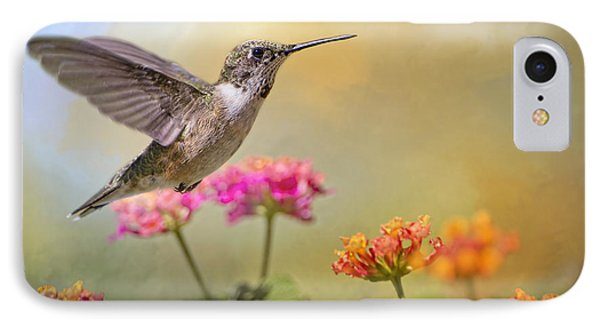 Hummingbird In The Garden IPhone Case by Bonnie Barry