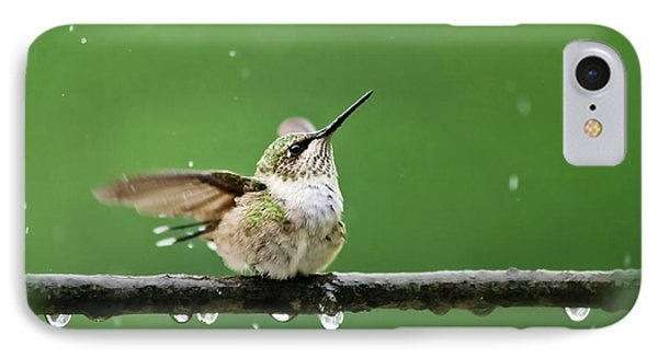 Hummingbird In The Rain IPhone 7 Case