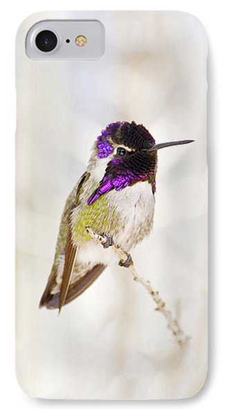 Hummingbird Larger Background IPhone Case by Rebecca Margraf