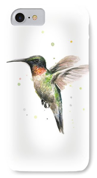 Hummingbird IPhone 7 Case by Olga Shvartsur