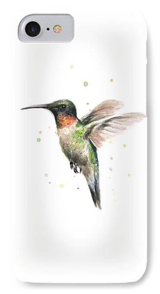 Animal iPhone 7 Case - Hummingbird by Olga Shvartsur