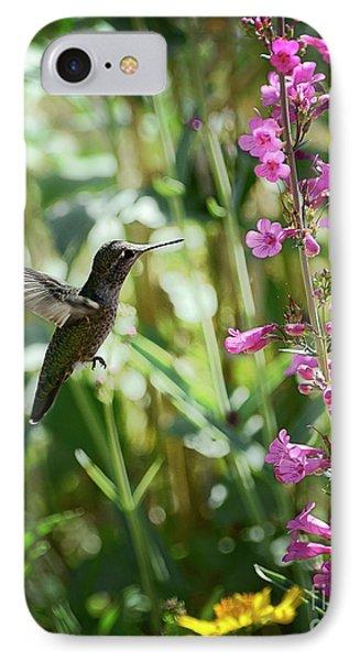 Hummingbird On Perry's Penstemon Phone Case by Saija  Lehtonen