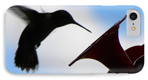 IPhone Case featuring the photograph Hummingbird Silhouette by Sandi OReilly