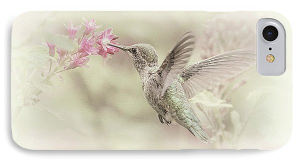 IPhone Case featuring the photograph Hummingbird Softly by Angie Vogel
