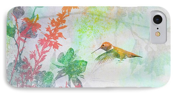 IPhone Case featuring the digital art Hummingbird Summer by Christina Lihani