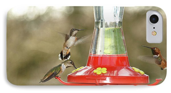 Hummingbird Trio IPhone Case by Shari Nees