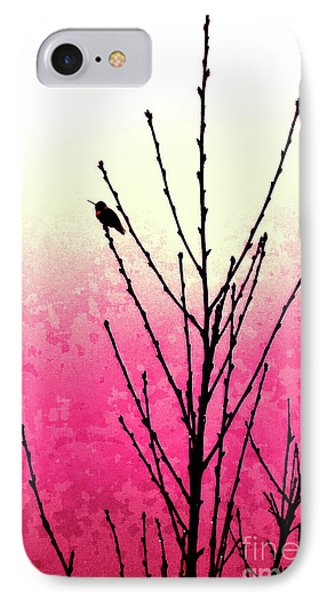Hummingbird Valentine IPhone Case by Gem S Visionary