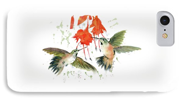Hummingbird Watercolor IPhone Case by Melly Terpening