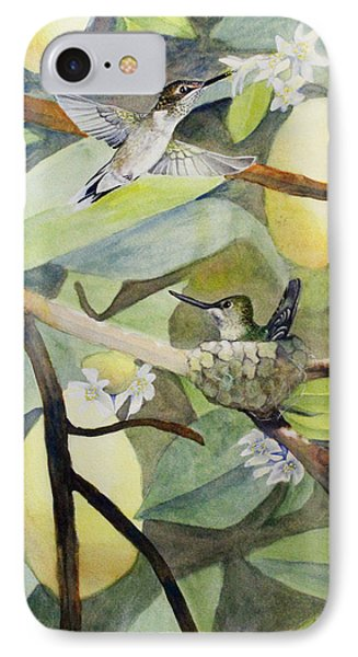 Hummingbirds And Lemons IPhone Case