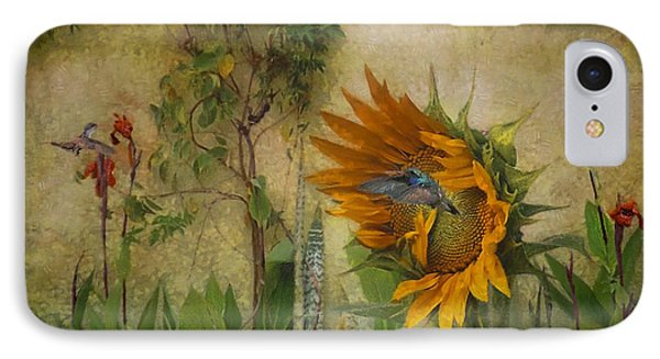 Hummingbirds In My Garden IPhone Case by John  Kolenberg