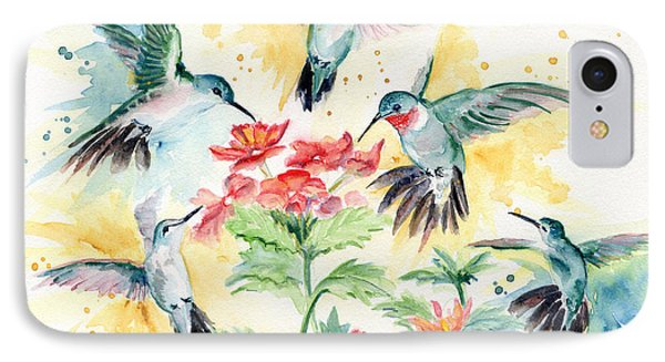 Hummingbirds Party IPhone Case by Melly Terpening
