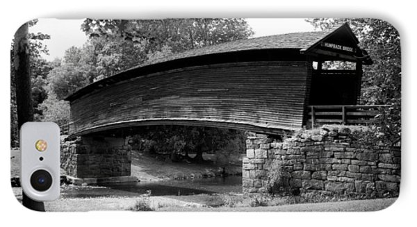 Humpback Bridge In Black And White IPhone Case by Karen Wiles