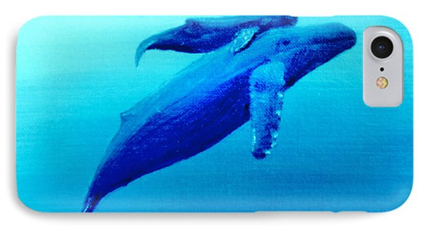 Humpback Mother Whale And Calf  #11 Phone Case by Donald k Hall