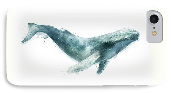 Humpback Whale From Whales Chart IPhone Case by Amy Hamilton