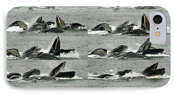 Humpback Whale Bubble-net Feeding Sequence X10 IPhone Case