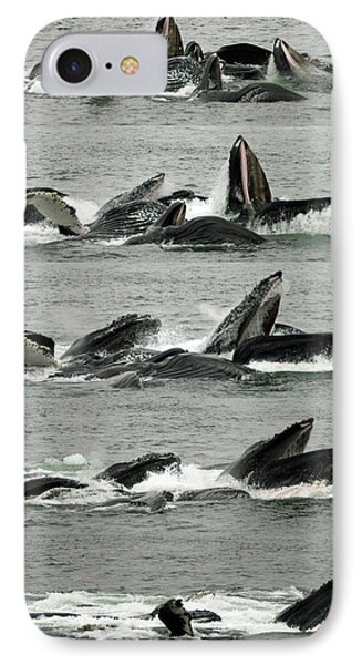 Humpback Whale Bubble-net Feeding Sequence X5 V2 IPhone Case