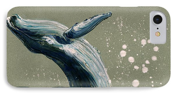 Humpback Whale Swimming IPhone Case by Juan  Bosco