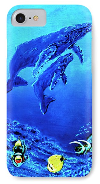Humpback Whales Hawaii An Reef #14 Phone Case by Donald k Hall