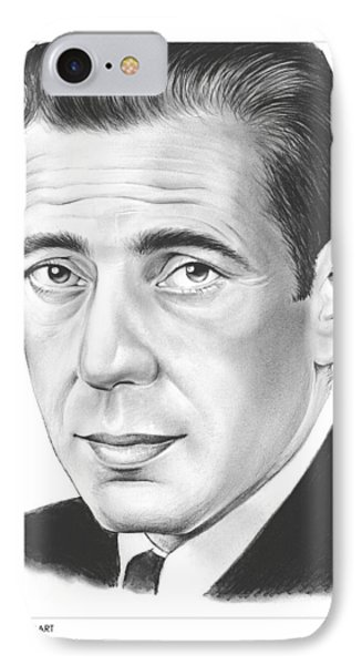 Humphrey Bogart IPhone Case by Greg Joens