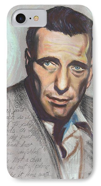 Humphrey Bogart  Not A Chess Piece Was Out Of Place Phone Case by Kean Butterfield