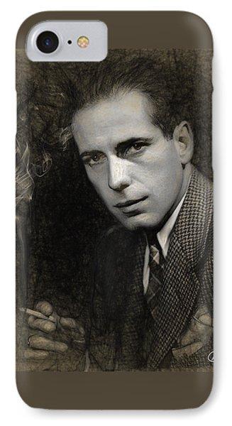 Humphrey Bogart IPhone Case by Quim Abella